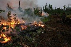 Для тушения  пожаров в Туве задействованы военные вертолеты