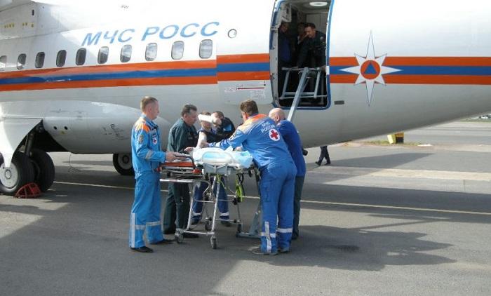 Борт МЧС доставит из Дагестана раненных при взрыве детей