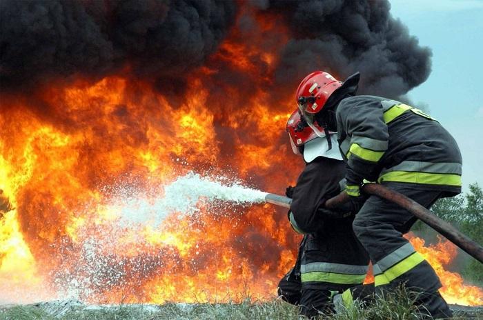 Пожар на нефтепроводе в Пермском крае