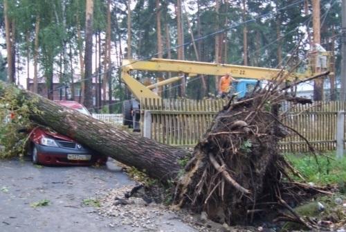 Ураган пронесся по Моздокскому району Северной Осетии