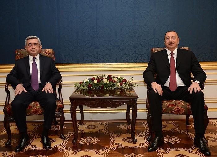президенты Армении Серж Саргсян и Азербайджана Ильхам Алиев
