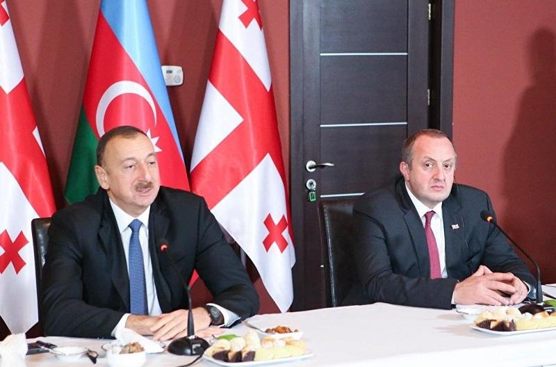 Президенты Грузии и Азербайджана посетили Марнеули