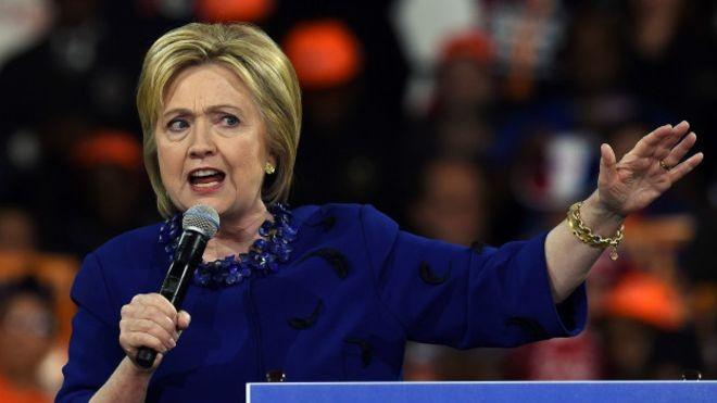 Кандидат в президенты США от демократической партии Хиллари Клинтон. Фото:  bbc.com