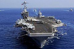 Шесть из десяти американских авианосцев находятся на дежурстве