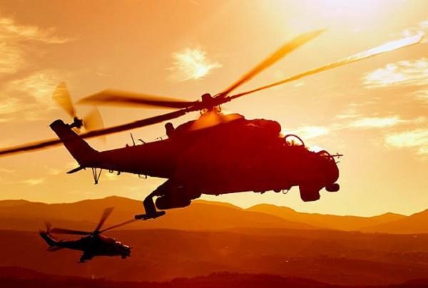 Момент гибели вертолета боевики ИГ сняли на видео фото 2