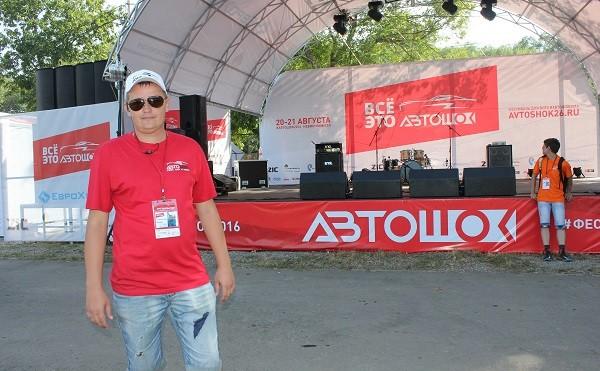 один из организаторов фестиваля  Евгений Серебрянский
