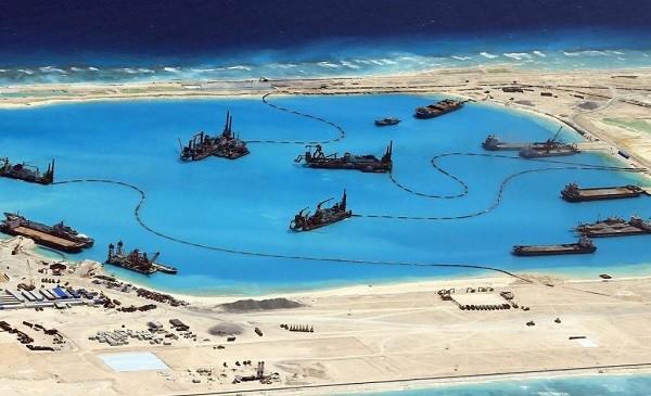 Процесс создания китайцами искусственного острова Спрайтли в ЮКМ, Фото: soloway.me