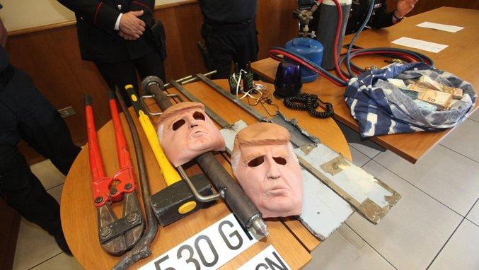 Кражи по-итальянски… в масках Трампа