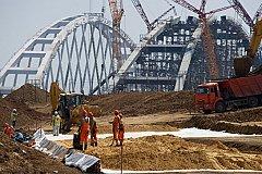 Завершена сборка арки Крымского моста