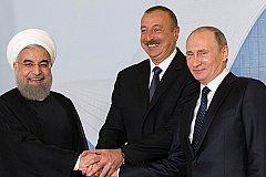 В Иране Путин провел переговоры с Роухани и Алиевым