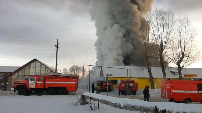 Пожар в обувном цеху под Новосибирском. Подробности