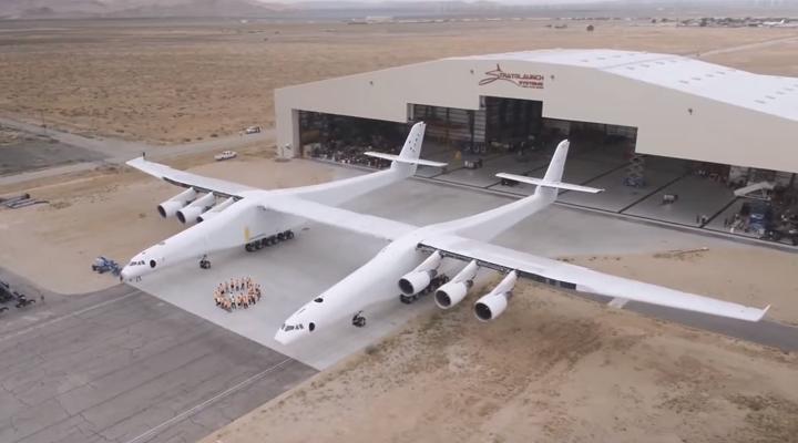 Начались пробежки самого большого самолета в мире - «Рок». ВИДЕО