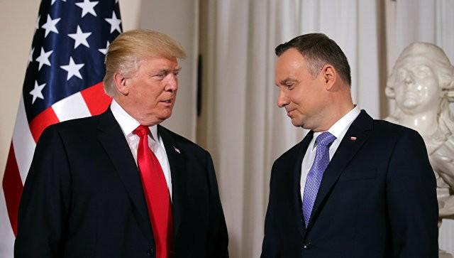 Президенты США Дональд Трамп и Польши Анджей Дуда. Архивное фото: ria.ru