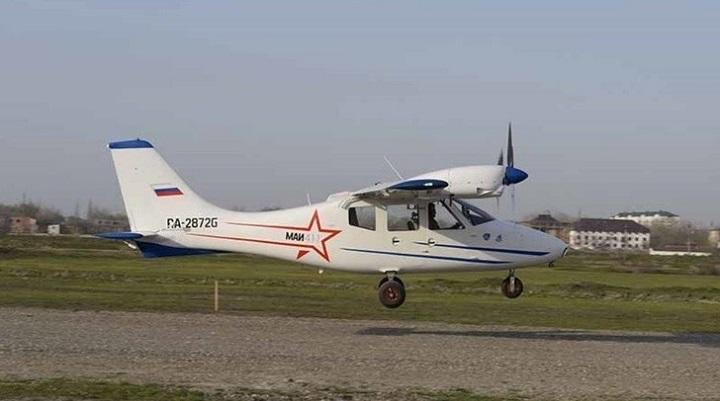 В Дагестане совершил первый полёт легкомоторный самолёт местного производства. ВИДЕО