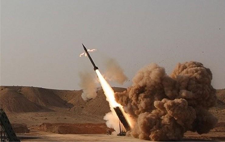 Пуск неуправляемой ОТБР «Зелзал-2» / «Abu-Baker»