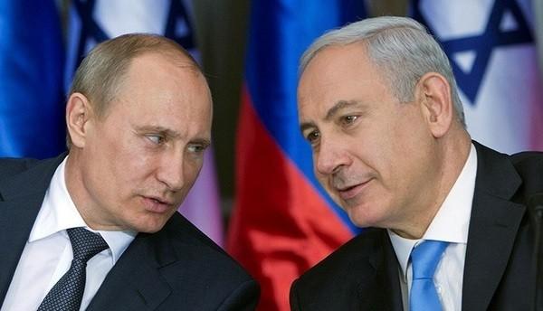 Президент России Владимир Путин и премьер-министр Израиля Биньямином Нетаньях. Архивное фото