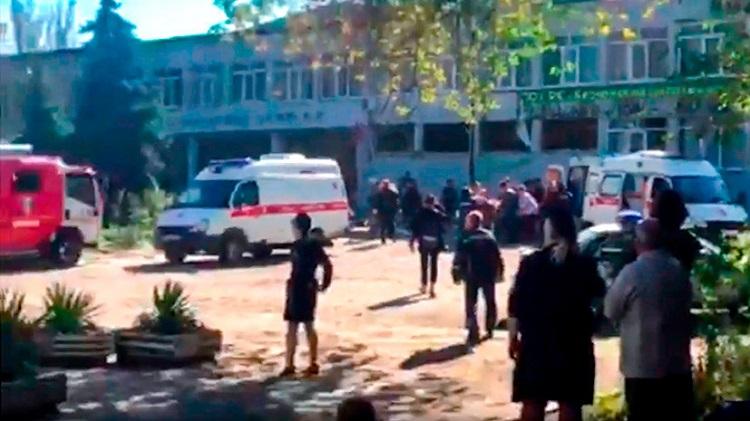 Мощный взрыв сотряс колледж в Керчи. ВИДЕО