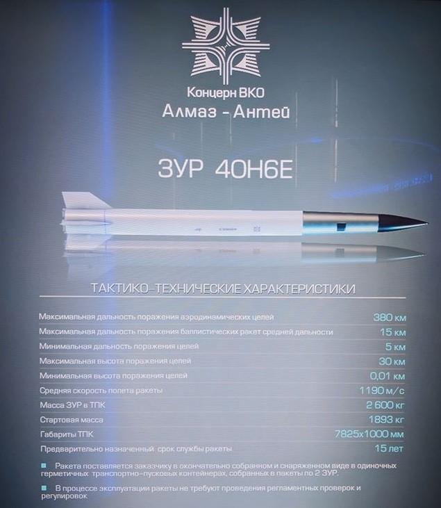В России на вооружение принята дальнобойная управляемая ракета 40Н6 системы С-400 фото 2