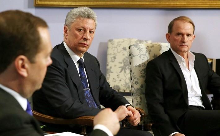 Виктор Медведчук на встрече с премьер-министром РФ Дмитрием Медведевым