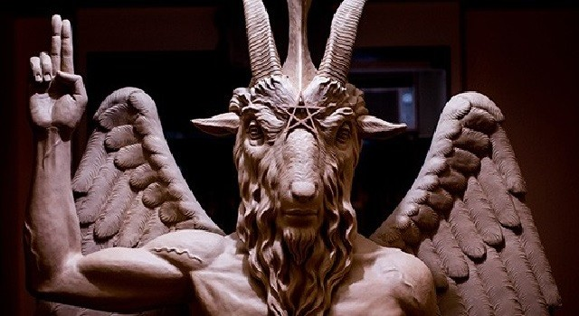 Фрагмент памятника Сатане в Детройте