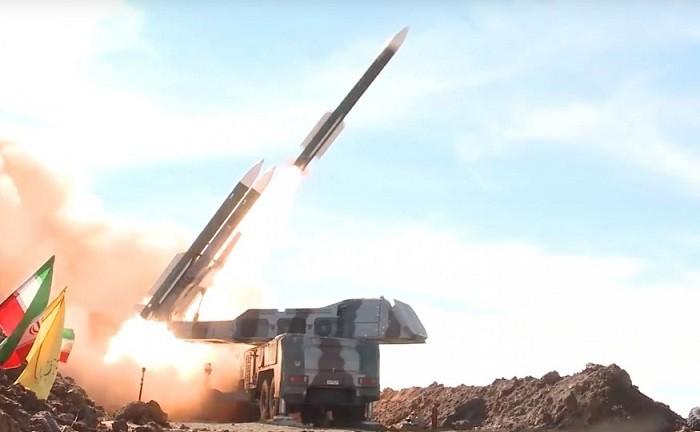 Мобильная пусковая установка иранского ЗРК средней дальности «Хордад-3», учавствовавшая в перехвате американского стратегического БПЛА MQ-4C «Triton»