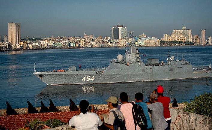 Фрегат ВМФ России «Адмирал Горшков» прибывает в порт Гавана, Куба