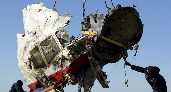Обломок Боинга, сбитого над Донбассом 17 июля 2014 года