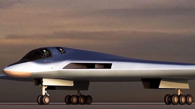 Концепт-проект новейшего российского бомбардировщика ПАК ДА