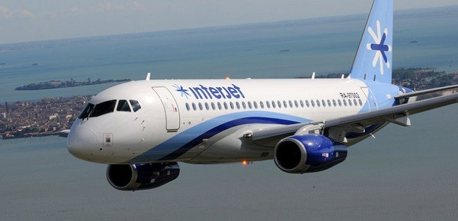 Sukhoi SuperJet 100 мексиканской авиакомпании Interjet