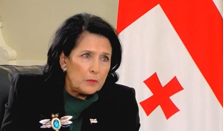 Президент Грузии Саломе Зурабишвили. Фото: tbilisi.media