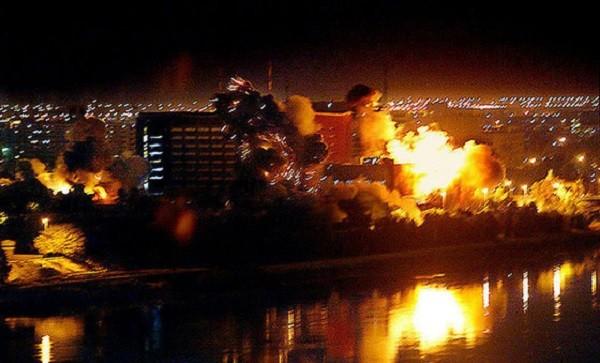Белград под ударами натовских бомбардировщиков 1998 год