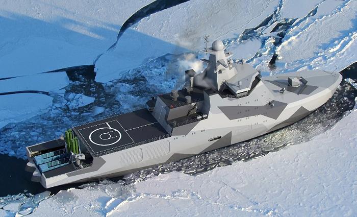 В России на воду спущен патрульный ледокол «Иван Папанин» фото 2