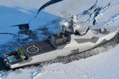 В России на воду спущен патрульный ледокол «Иван Папанин»