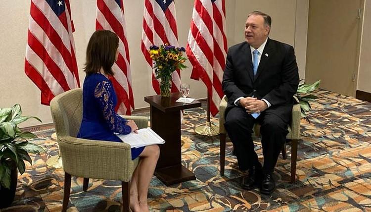 Госсекретарь США Майк Помпео на телеканале WCSC. Фото: live5news.com