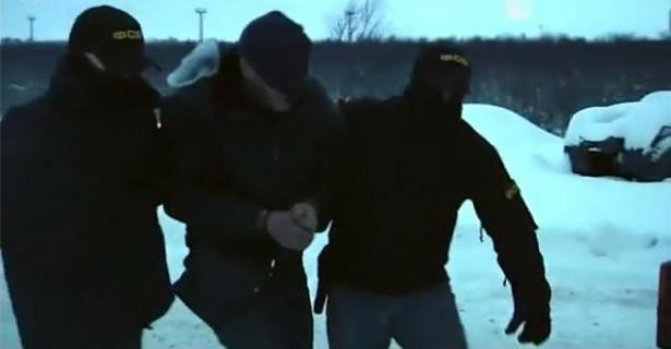 Кадр из видеозаписи задержания активиста «Правого сектора»