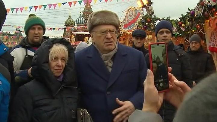 Владимир Жириновский на Красной площади. Фото: vesti.ru