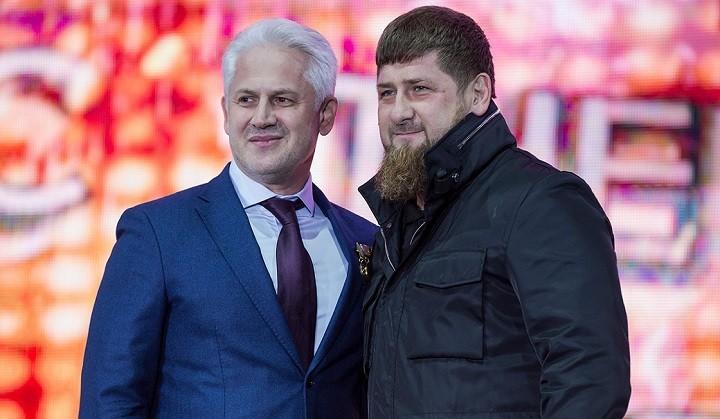 Муслим Хучиев с Рамзаном Кадыровым
