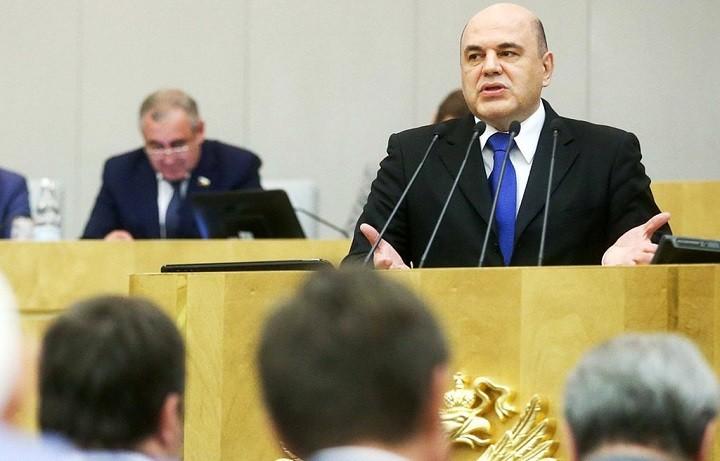 Михаил Мишустин выступает перед депутатами Госдумы 16 января 2020 года. Фото: пресс-служба ГД