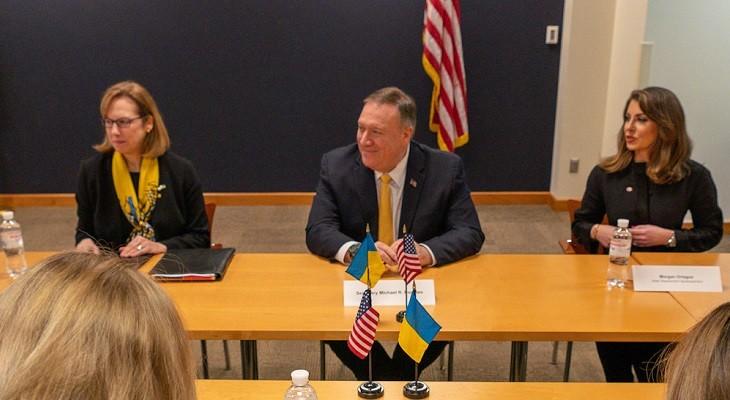 Майк Помпео на встрече в Киеве. Фото: twitter