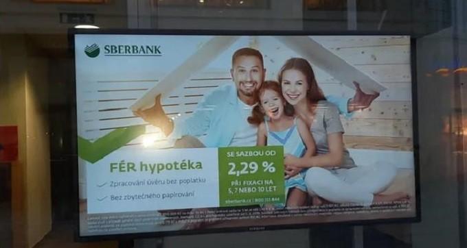 Реклама ставки по ипотеке «Сбербанка» в Чехии.