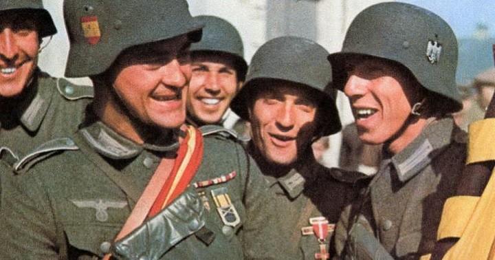 Испанские добровольцы из «Голубой дивизии». Фото из открытых источников.