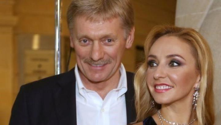 Дмитрий Песков с супругой Татьяной Навкой. Фото: ren.tv