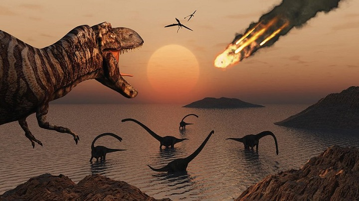 Огненный метеор, погубивший динозавров, ударил под «смертельным» углом.