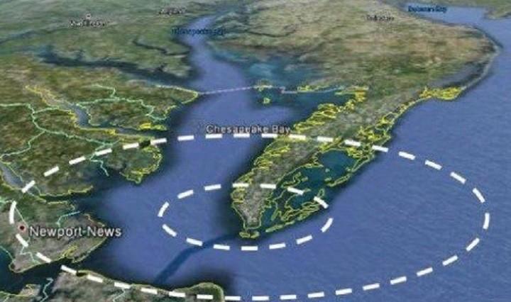 Кратер Чесапикского залива