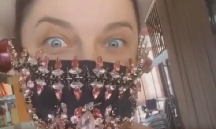 Наташа Королева в гламурной антикороновирусной маске. Фото: Instagram