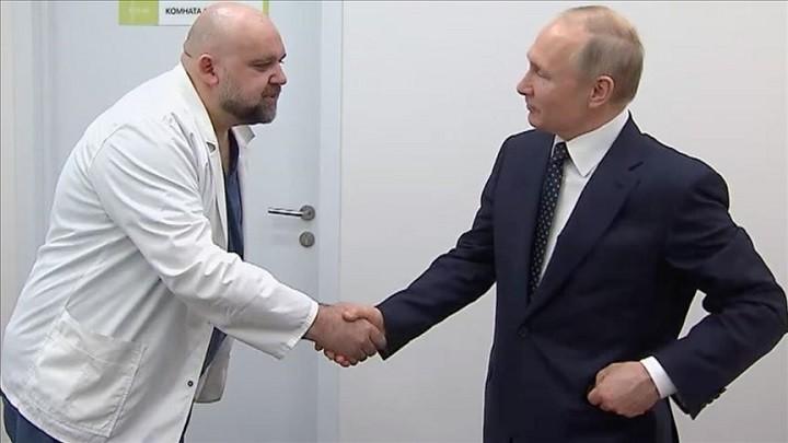 Денис Проценко с Владимиром Путиным.