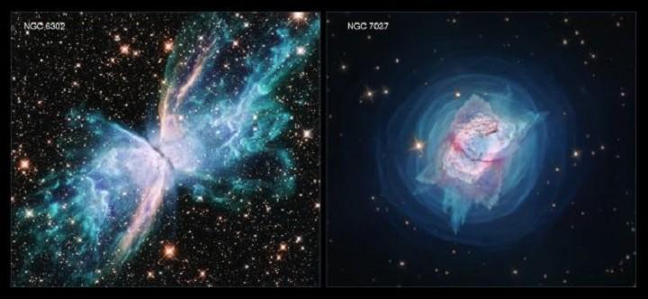 Телескоп Хаббл сделал потрясающие снимки фейерверков планетарных туманностей. фото 2