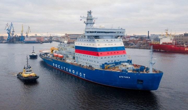 У ледокола «Арктика» начался заключительный этап испытаний.