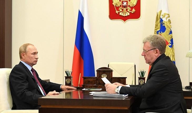 Алексей Кудрин на встрече с Владимиром Путиным. Фото: kremlin.ru