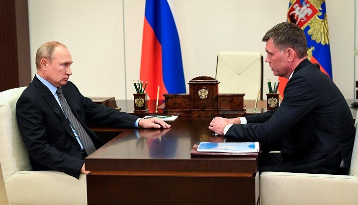 Владимир Путин и Дмитрий Аристов. Фото: kremlin.ru